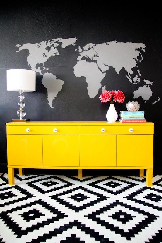 Best 25 yellow dresser ideas on pinterest white and What do we call a picture painted on a wall