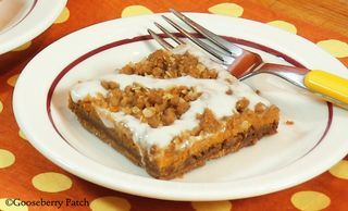 Gingerbread Pumpkin Bars   Recipe from Gooseberry Patch