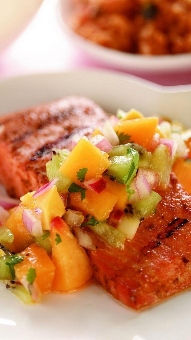Salmon and fruit salsa | Main dish--Meat! & seafood! | Pinterest