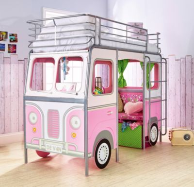 Kinderbett Bus, 90 x 190 cm rosa Jetzt bestellen unter: https://moebel.ladendirekt.de/kinderzimmer/betten/kinderbetten/?uid=1e653272-d773-5446-8867-678bcf0a2b83&utm_source=pinterest&utm_medium=pin&utm_campaign=boards #kinderzimmer #kinderbetten #betten Bild Quelle: www.yomonda.de