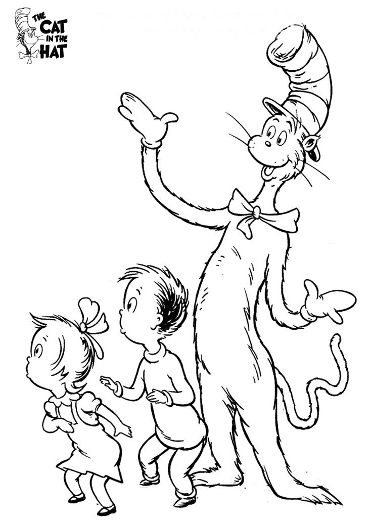 cat in the hat coloring pages coloring pages