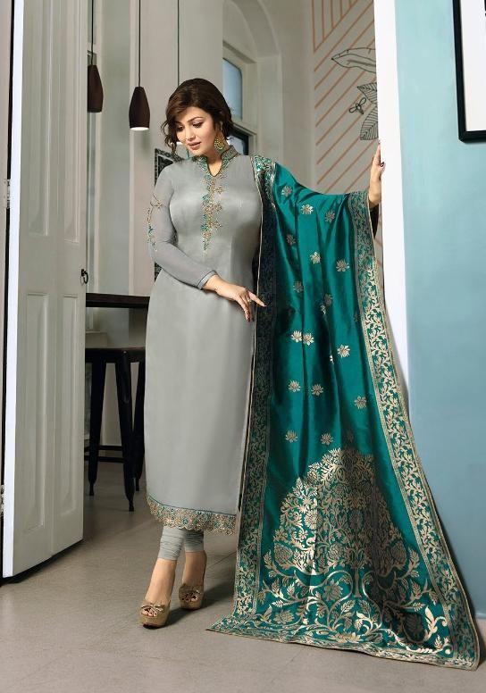 5cf614555b Fiona Designer Salwar Suit With Banarasi Dupatta | deassi kurri in ...