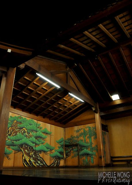 Yamato Noh Theater, Japan  Roof for new pool building idea