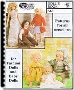 Free knitting doll patterns, great outfit, scarf, sweater and skirt
