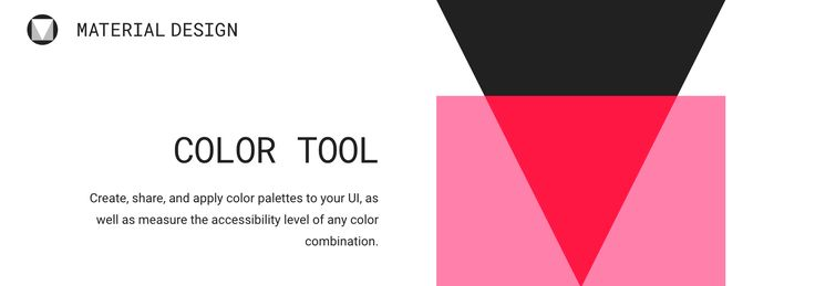 Material design colour picker and tool