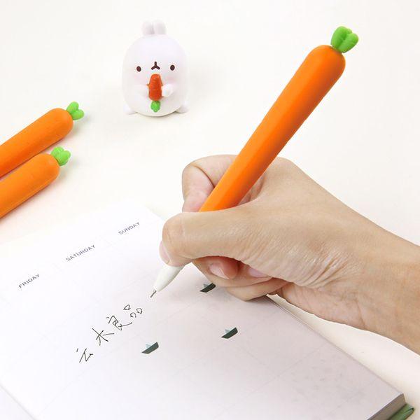 云木良品 可爱仿真胡萝卜中性笔 创意学生用蔬菜造型签字笔0.5mm