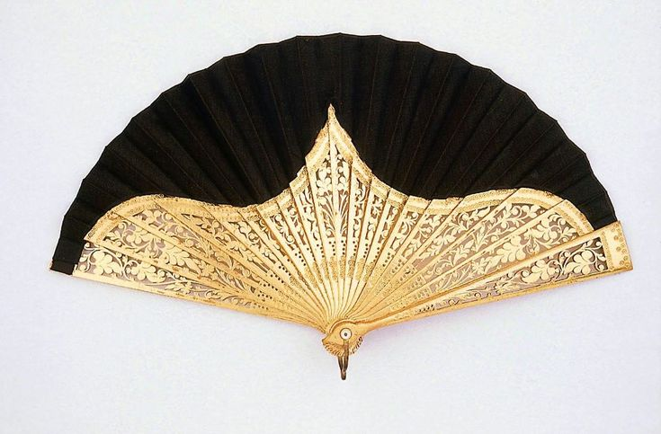 Late 19th century fan by Edmund Soper Hunt Fan Factory, Museum of Fine Arts Boston (via Old Rags) #Victorian