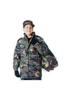 Kids Woodland Camouflage M 65 Field Jacket ! Buy Now at gorillasurplus.com