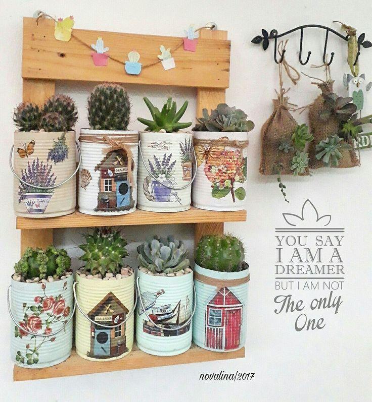 Recycle tin jar