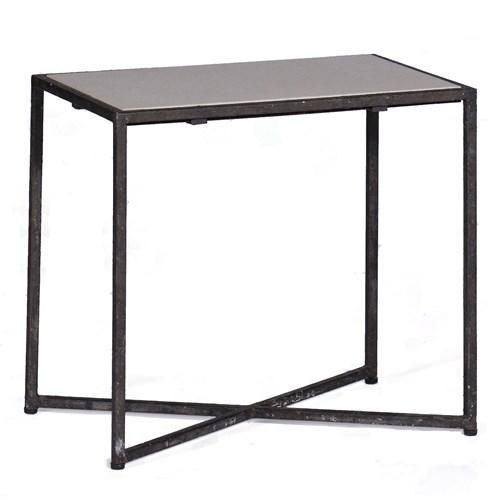 <b>Materials: Iron/Marble Finish: Rusty Black & Natural Limestone</b> This great architecturally inspired table effortlessly blends a rusty black iron frame with a honed marble top. The petite, metal occasional table pairs well with a wide range of styles from traditional to minimalist modern.