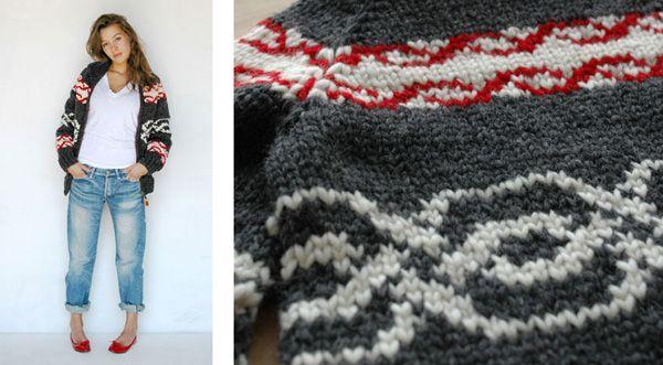 Motif Links Red Sweater