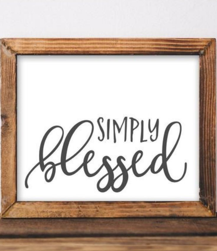Simply Blessed Printable Blessed Printable Wall Decor Quotes Rustic Diy