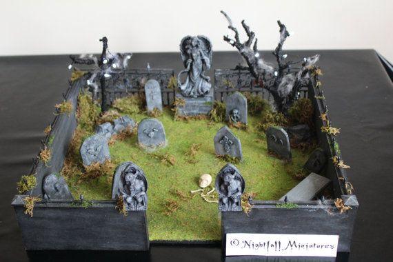 Dollhouse Miniature Spooky Gothic Halloween by NightfallMiniatures