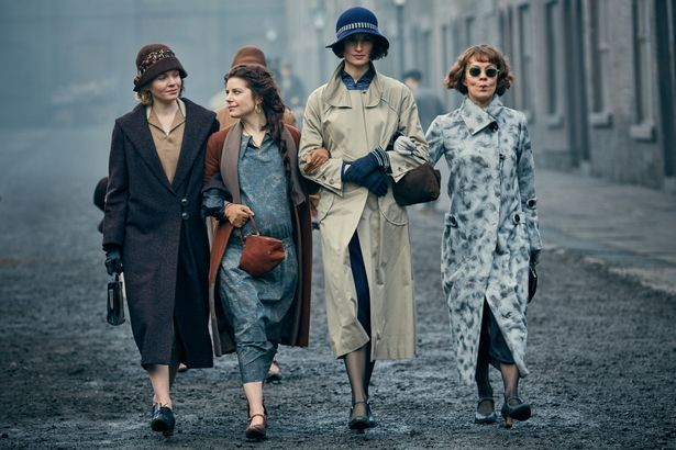 Don't mess with the Peaky Blinders women - Linda Shelby (Kate Phillips), Esme Shelby (Aime-Ffion Edwards), Lizzie Stark (Natasha O'Keeffe), Aunt Polly Gray (Helen McCrory)