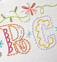 Alphabet Embroidery Pattern.