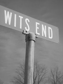 focusedongrowing.blogspot.ca:  #273  WITS END...  The idiomat wits' endmeans t...