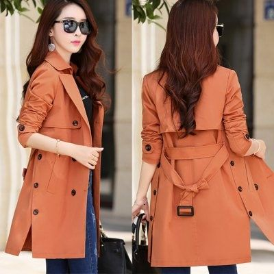 Women OL Windbreaker Hot sale 2016 Spring Autumn Brand Casual Trench coat for women Plus Size Long Double breasted Slim Windbreaker Outerwear Jacket Coats $35.11