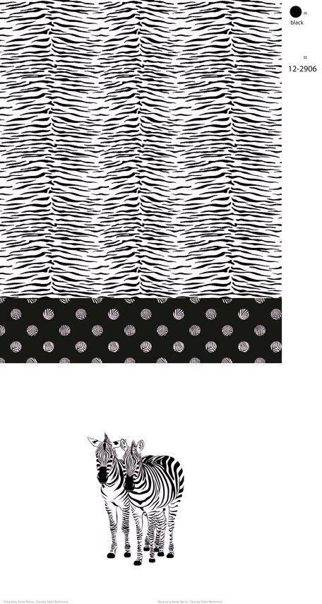Stenzo17 3614-12 Tricot paneel zebra zwart/lichtroze