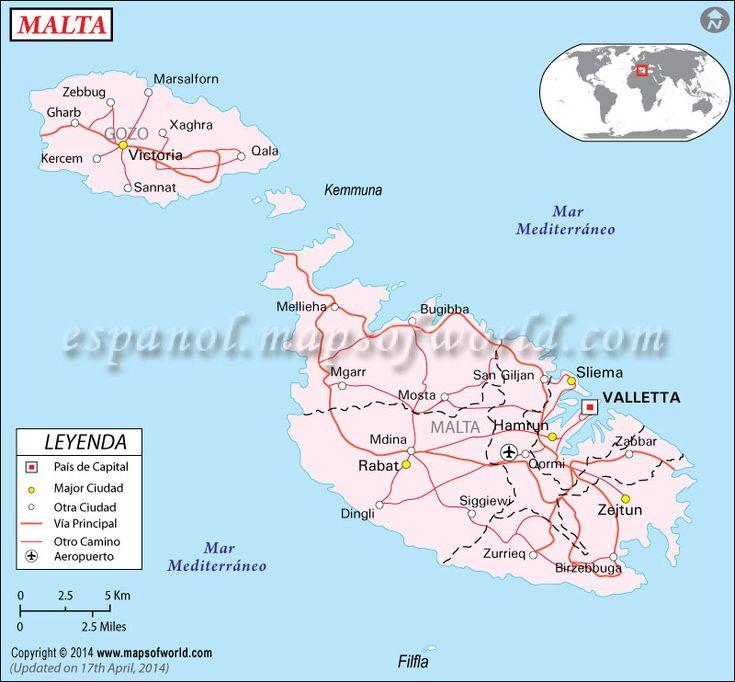 La República de Malta es un país del sur de Europa, formado por un grupo de islas en el centro del Mediterráneo. Limita con Sicilia, en el sur, Túnez, en el este, Libia, en el norte, Gibraltar, en el oeste y Alejandría, en el este. Malta es una isla situada en el mar mediterráneo. La posición estratégica de Malta en el mar mediterráneo la convirtió en escenario de muchos acontecimientos históricos y culturales importantes a lo largo de su historia. Los primeros pueblos de Malta llegaron ...