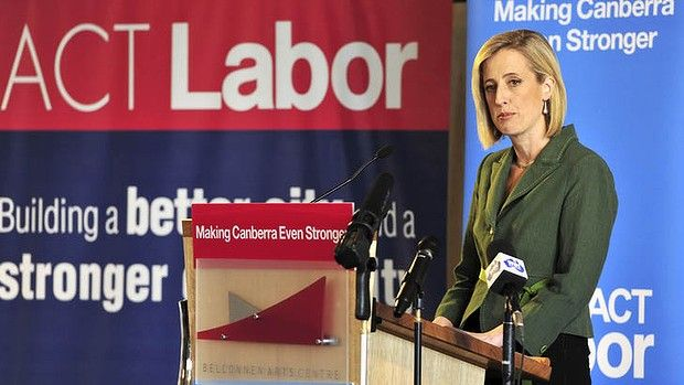 Chief Minister Katy Gallagher at the ACT Labour campaign launch in Belconnen.