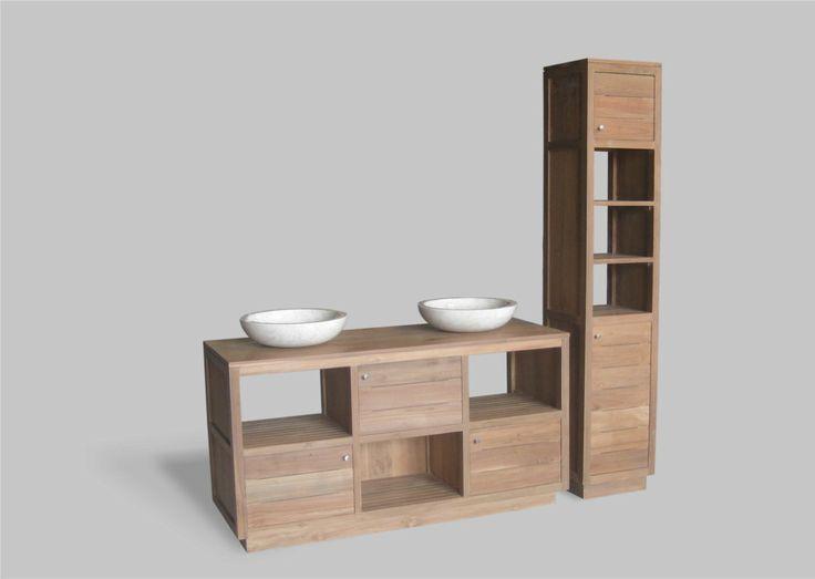 Meuble salle de bains 150cm pr t tre pos mod le luna 3 for Pret caf pour meuble