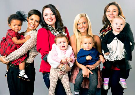 MTV's Teen Mom 3 stars Briana DeJesus, Katie Yeager, Mackenzie Douthit and Alex Sekella. August 26th 2013