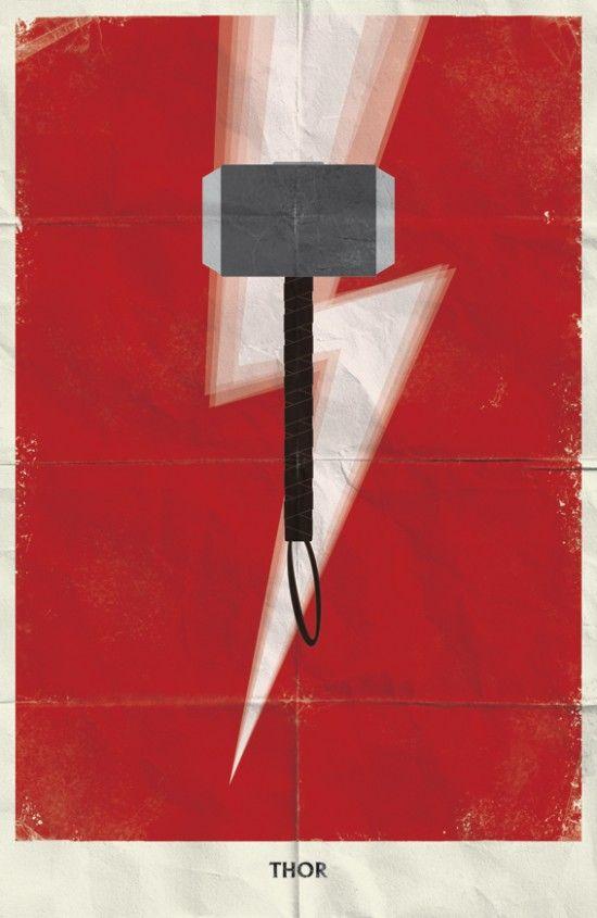 Assuntos Criativos™: Posters Minimalistas Marvel