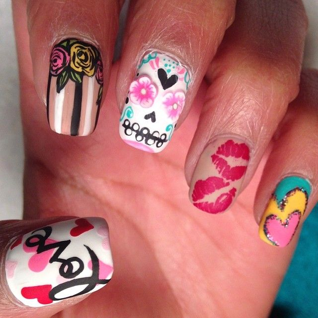 264 best february nail art images on pinterest nail scissors valentines nail art prinsesfo Image collections