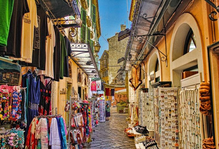 Shopping In Corfu Town Rik Freeman Nightlife