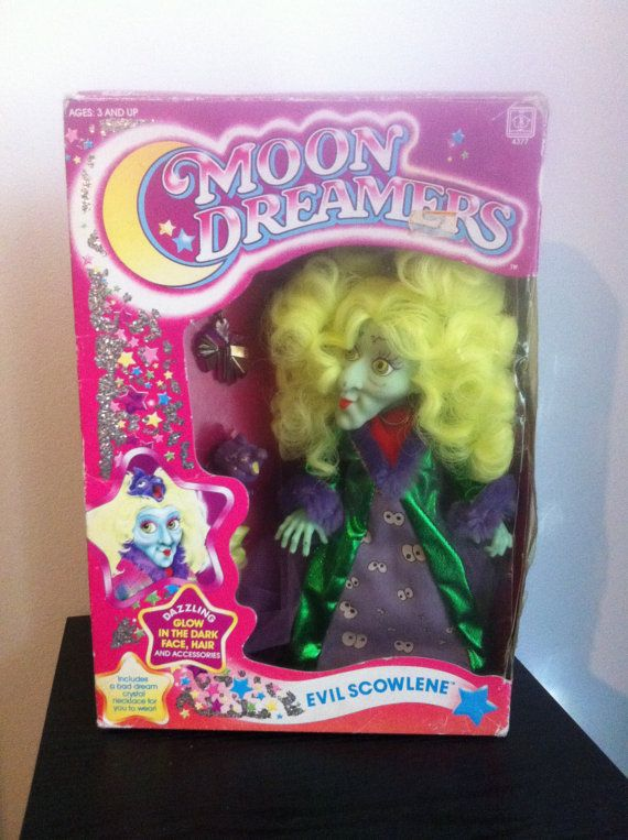 MoonDreamers Vintage 80s Toy Action Figure Scowlene in box TV Cartoon collectible 1980 Rare on Etsy, $52.95 CAD