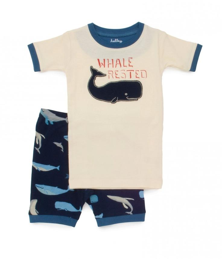 PLANET PYJAMA - Home of quality Kids pyjamas - Whale Rested shortie pyjamas, $34.95 (http://www.planetpyjama.com.au/whale-rested-shortie-pyjamas/)