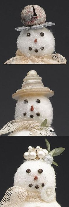 Each snowman hat has a different personality.