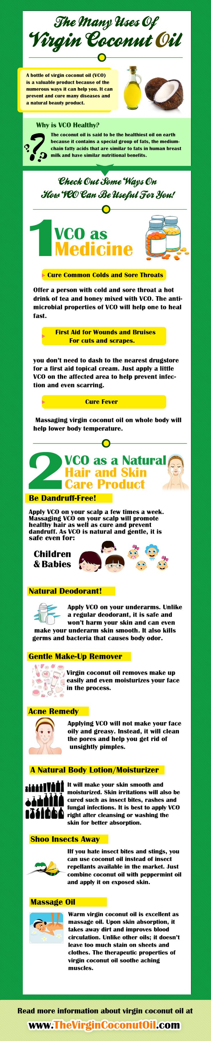 The Many Benefits of Coconut Oil Infographic - Virgin Coconut Oil