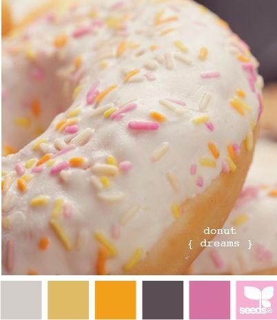 donut dreams: Color Palettes, Design Seeds, Donuts, Colors Green, Designseeds, Donut Dreams, Bright Colors, Dreams Colors