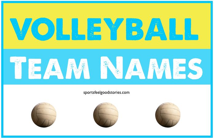Lots of funny volleyball team names to choose from including: Pop up Blockers, Block Party, Notorious B.I.G. and One Hit Wonders.