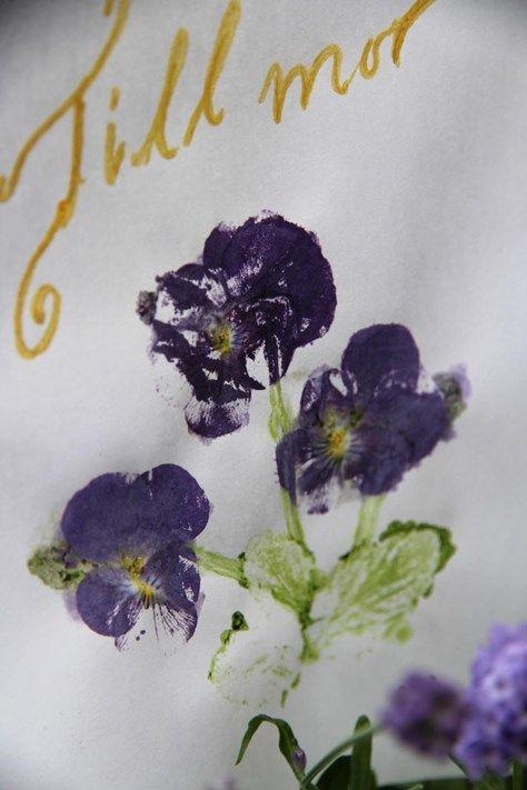 Mors dag-kort med violer - gör så här | Blomsterlandet.se
