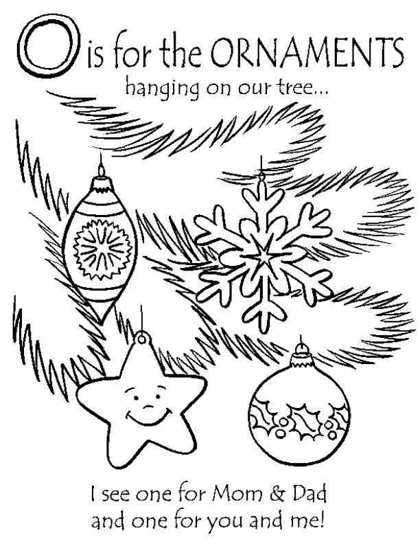 O Is For The Ornaments Hanging On Our Tree From