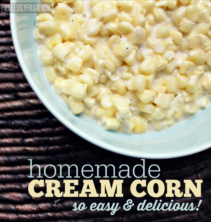 Easy Delicious Homemade Creamed Corn Recipe - you will seriously feel like you died and went to heaven after tasting this!  Plus it's easy, but people will think you slaved over it.  Trust me.  Make it.  It will knock your socks off.