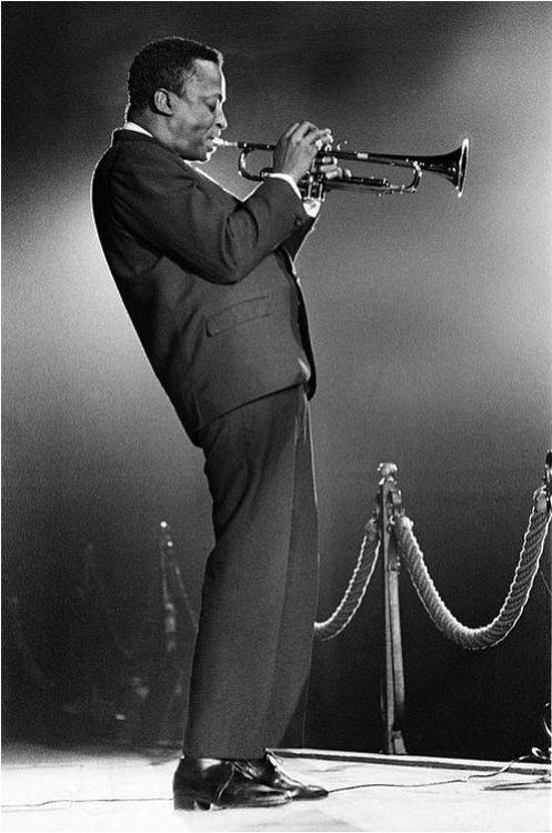 Miles Davis in Amsterdam, 1957.
