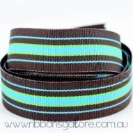 bermuda cool striped grosgrain (23mm wide) [per metre] - $1.60 : Ribbons Galore, your online store for the best ribbons #ribbons #ribbonsgalore #stripedgrosgrain