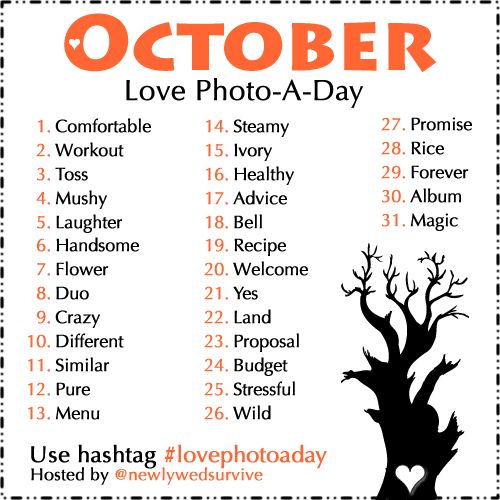 Celebrate your love by participating in the Love Photo-A-Day challenge for October! #lovephotoaday