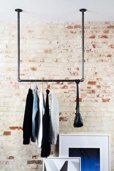 Tøjstativ der hænger fra loft - mange størrelser