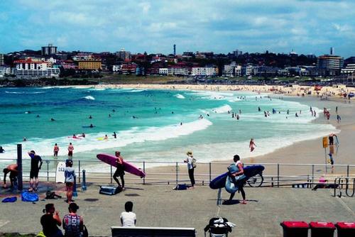 Bondi Beach, Sydney Australia. I think I lived on this beach for a good 5 months