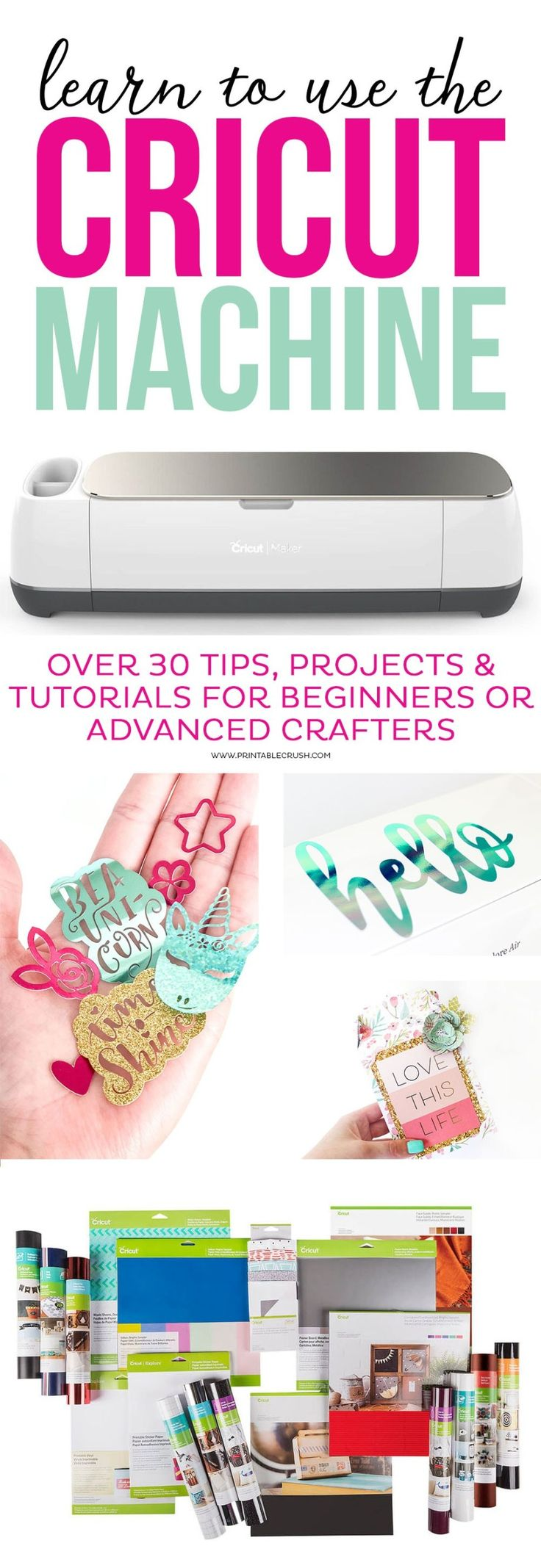 Learn to use the Cricut Machine with over 30 tips