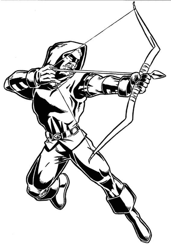 Green Arrow Coloring Pages Coloring Pages Superhero