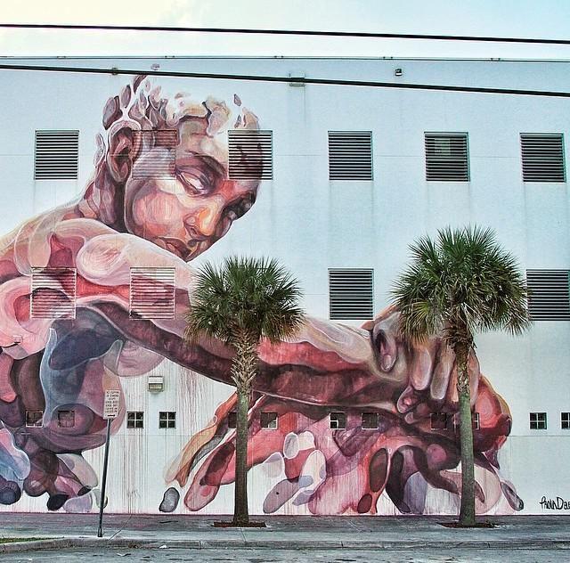 Street Art by artist Paola Delfin in Miami #art #mural #streetart