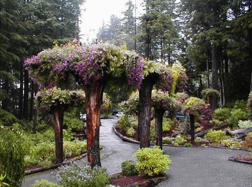yard landscaping ideas, garden decorations recycling tree roots and stumps