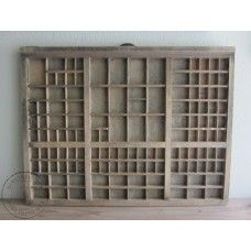 Oude houten letterbak No.1