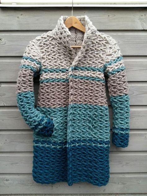 Crochet winter coat - free pattern. Winterjas haken - gratis patroon.