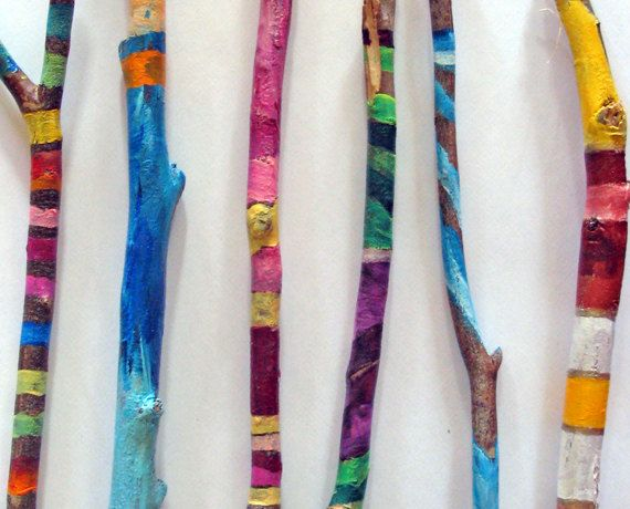 Best 25 Painted Sticks Ideas On Pinterest Stick Art Painted Branches And Talking Sticks